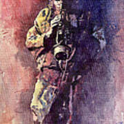 Jazz Miles Davis Maditation Art Print