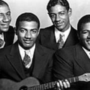 Jazz Vocal Quartet The Mills Brothers Art Print by Everett