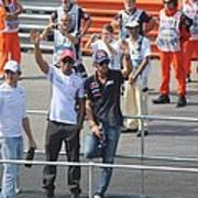 Jean-eric Vergne Lewis Hamilton And Nico Rosberg Art Print