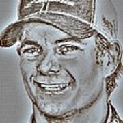 Jeff Gordon In 2010 Art Print by J McCombie