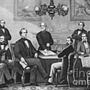 Jefferson Davis, Cabinet Art Print by Photo Researchers
