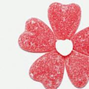 Jelly Candy Heart Flower 1 Art Print