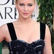 Jennifer Lawrence Wearing A Louis Art Print