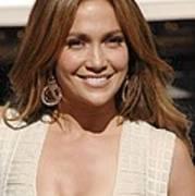 Jennifer Lopez At The Press Conference Art Print