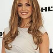 Jennifer Lopez Wearing A Gucci Dress Art Print by Everett