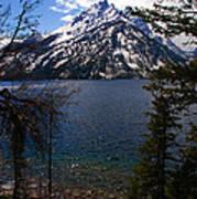 Jenny Lake In The Grand Teton Area Art Print