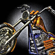 Jesse James Bike Detroit Mi Art Print