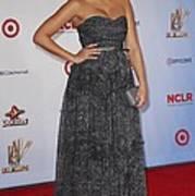 Jessica Alba Wearing A Dress By Michael Art Print