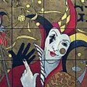 Jester In Red Art Print by Susanne Clark
