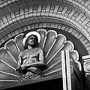 Jesus  Sculpture Above Cathedral Door Lintel Art Print