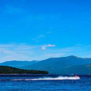 Jet Ski On Priest Lake Art Print