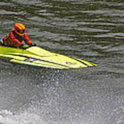 Jetboat In A Race At Grants Pass Boatnik Art Print