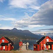 Jetty In A Norwegian Fjord Art Print