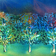Jeweled Trees Art Print