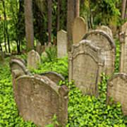Jewish Town Tombs In The Jewish Cemetery Art Print