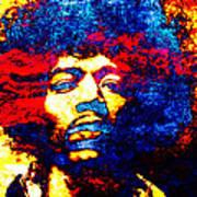 Jimi Hendrix 3 Art Print