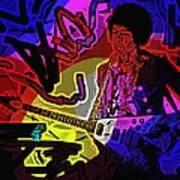 Jimi Hendrix Number 22 Art Print