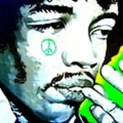 Jimi Hendrix Print by Randall Weidner
