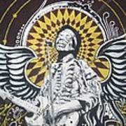 Jimi With Wings Art Print