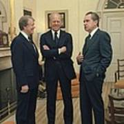Jimmy Carter Gerald Ford And Richard Art Print by Everett