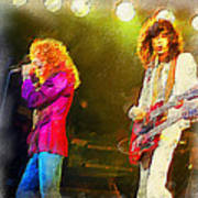 Jimmy Page And Robert Plant Art Print