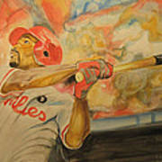 Jimmy Rollins Art Print by Keith Hancock