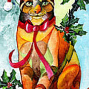 Jingle Cat Art Print