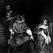 Joan Of Arc In Prison 1431, Engraving Art Print
