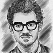 Joe Jonas Drawing Art Print