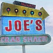 Joe's Crab Shack Retro Sign Art Print