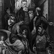 John Brown Meeting Slave Mother Art Print by Photo Researchers