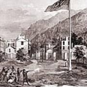 John Browns Harpers Ferry Insurrection Art Print by Everett