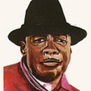 John Lee Hooker Art Print by Emmanuel Baliyanga