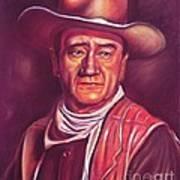 John Wayne Print by Anastasis  Anastasi
