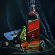 Johnnie Walker  Art Print by Epifanio jr Mendoza