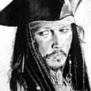 Johnny Depp As Captain Jack Sparrow In Pirates Of The Caribbean Art Print