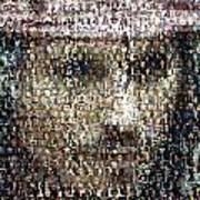 Johnny Depp Jack Sparrow Mosaic Art Print