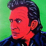 Johnny Pop Art Print by Pete Maier