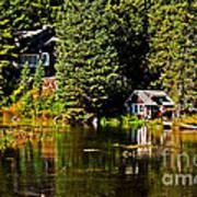 Johnny Sack Cabin II Art Print by Robert Bales