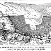 Johnstown Flood: Dam, 1889 Art Print