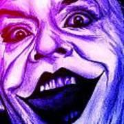Joker Neon Art Print by Michael Mestas
