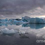 Jokulsarlon Glacier Iceland Art Print