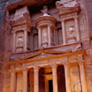 Jordan, Petra, The Treasury Art Print by Nevada Wier
