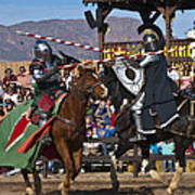 Joust To The End... Art Print