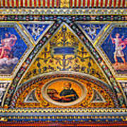 Jp Morgan Library Ceiling Detail Art Print