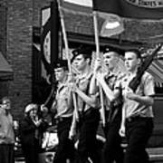 Jrotc Carrying Flag In The Parade Art Print