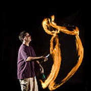 Juggling Fire Art Print