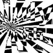 July 4th Maze Art Print by Yonatan Frimer Maze Artist