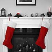 Jumbo Red Stockings Art Print