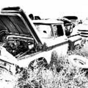Junkyard Infrared 2 Art Print